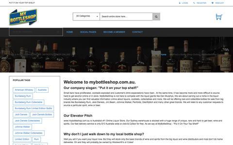 Screenshot of About Page mybottleshop.com.au - Find a Bottle Shop Online | MyBottleShop Online - captured Jan. 28, 2016