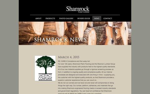 Screenshot of Press Page shamrockplankflooring.com - Shamrock Plank FlooringMaple Hardwood :: Hardwood Flooring Shamrock - captured Jan. 12, 2016