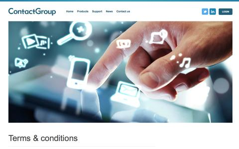 Screenshot of Terms Page the-contactgroup.com - Terms & conditions - Contact Group - captured Jan. 31, 2016