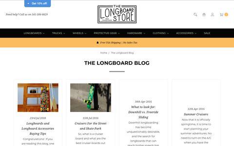 Screenshot of Blog thelongboardstore.com - The Longboard Blog - captured Nov. 7, 2018
