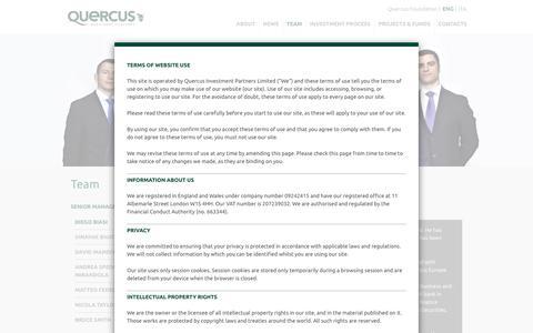 Screenshot of Team Page quercus-partners.com - Team - Quercus Investment Partners - captured Feb. 2, 2016