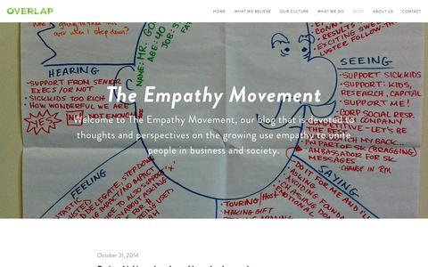 Screenshot of Blog overlapassociates.com - The Empathy Movement — Overlap - captured Nov. 1, 2014
