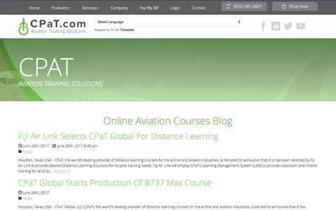 Screenshot of Blog cpat.com - Online Aviation Courses Blog | CPaT Global - captured July 9, 2017