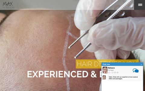 Screenshot of Home Page mymaxhair.com - Hair transplant centre in Hyderabad, Max Laser Therapy, Instant hair treatment in Hyderabad -Max Hair - captured Feb. 3, 2016