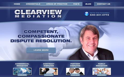 Screenshot of Blog clearviewmediation.com - Blog - clearviewmediation.com - captured Jan. 28, 2016