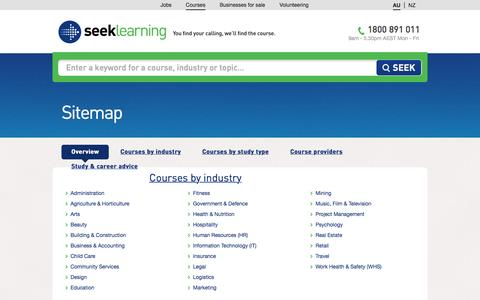 Screenshot of Site Map Page seeklearning.com.au - Sitemap | Seek Learning Australia - captured April 14, 2016