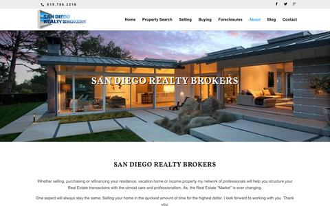 Screenshot of About Page liveinbonita.com - San Diego Realty Brokers - captured July 8, 2018