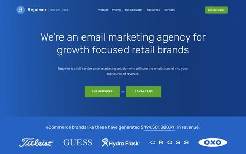 Screenshot of Services Page rejoiner.com - Email Marketing Agency for eCommerce - captured Nov. 10, 2018