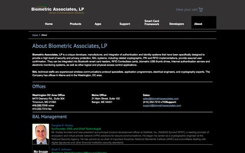 Screenshot of About Page biometricassociates.com - About «  Biometric Associates, LP - captured Sept. 13, 2014