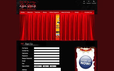 Screenshot of Signup Page lalqila.com - LalQila-Sign Up - captured Sept. 23, 2014