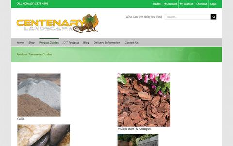 Screenshot of Products Page centenarylandscaping.com.au - Products I Centenary Landscaping Supplies - captured Jan. 26, 2016