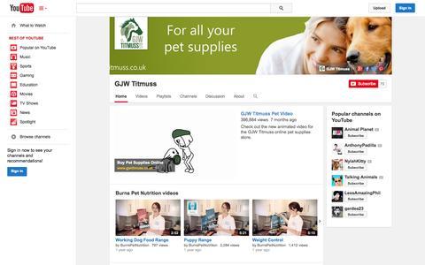 Screenshot of YouTube Page youtube.com - GJW Titmuss  - YouTube - captured Oct. 22, 2014