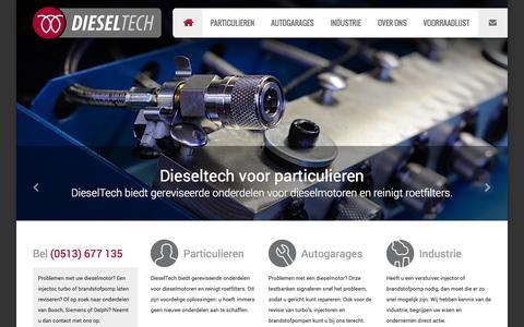 Screenshot of Home Page dieseltech.nl - Dieseltech   Diesel revisie bedrijf   Dieseltechniek Friesland - captured Oct. 5, 2014