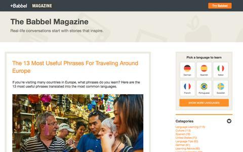 The Babbel Magazine - Babbel.com