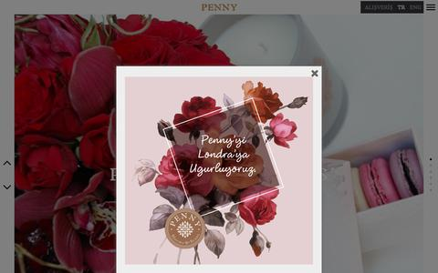 Screenshot of Home Page penny.com.tr - Penny | Blooms & Beans - captured Dec. 14, 2018