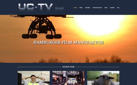 Screenshot of Home Page uc-tv.de - UC-TV GmbH :: Film & TV Produktion - captured Feb. 3, 2016