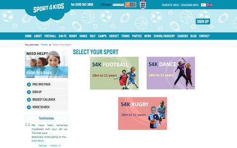 Screenshot of Signup Page sport4kids.biz - Quickly sign your child up to one of our classes - captured Aug. 12, 2019