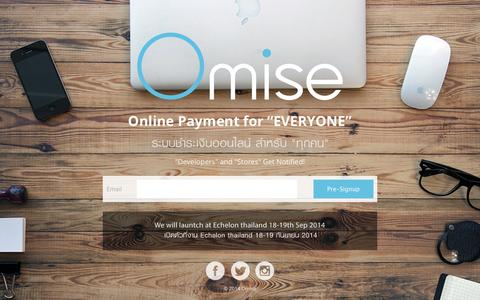 Screenshot of Home Page omise.co - Omise Payment - captured Sept. 17, 2014