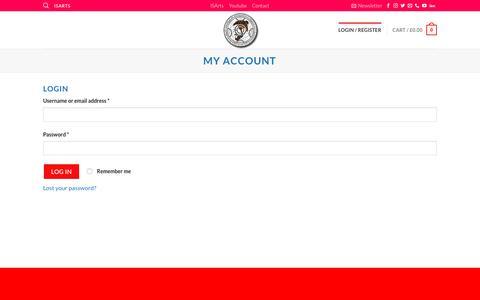 Screenshot of Login Page isarts.com - My account – ISArts - captured Dec. 16, 2018