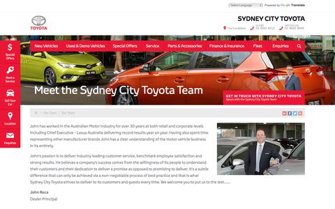 Screenshot of Team Page sydneycitytoyota.com.au - Meet the Sydney City Toyota Team - Sydney City Toyota - captured Sept. 24, 2018