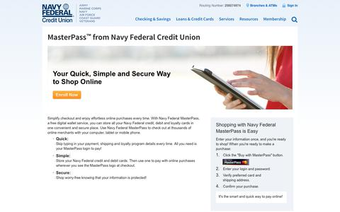 MasterPass from Navy Federal Credit Union | Navy Federal Credit Union