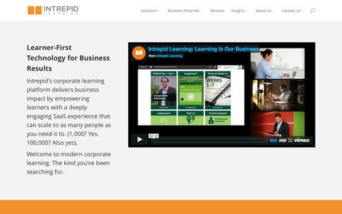 Intrepid Learning Inc.'s corporate learning platform