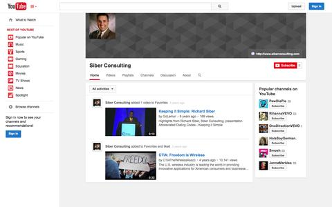 Screenshot of YouTube Page youtube.com - Siber Consulting  - YouTube - captured Oct. 29, 2014