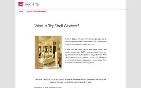 Screenshot of About Page topshelfclothes.com - TopShelf Clothes   AboutTopShelf Blog - captured Oct. 28, 2014