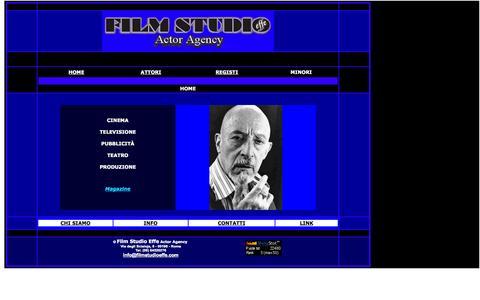 Screenshot of Home Page filmstudioeffe.com - FILM STUDIO - Actor Agency - Home - captured Sept. 30, 2014
