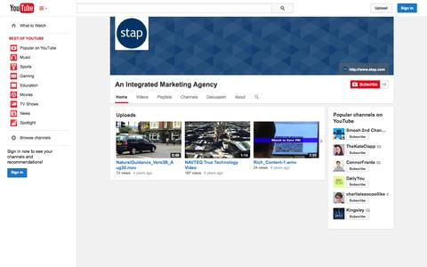 Screenshot of YouTube Page youtube.com - An Integrated Marketing Agency  - YouTube - captured Oct. 23, 2014