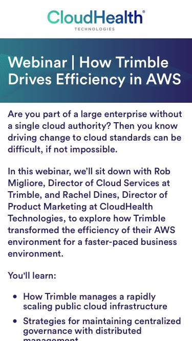 Webinar | Navigating Cloud Governance at Scale: The Trimble Story