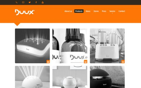 Screenshot of Products Page duux.com - Duux | Products - Duux - Enjoy the difference! - captured Oct. 5, 2014
