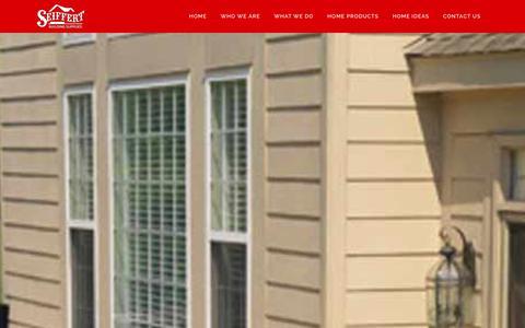 Screenshot of Home Page seiffertlumber.com - Home - Seiffert Building Supplies - captured Dec. 19, 2015