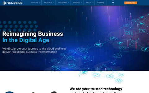 Screenshot of Home Page neudesic.com - Reimagining Business in The Digital Age - Neudesic - captured Aug. 17, 2019