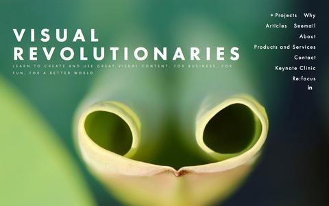 Screenshot of Home Page visualrevolutionaries.com - Visual Revolutionaries - captured Oct. 7, 2014