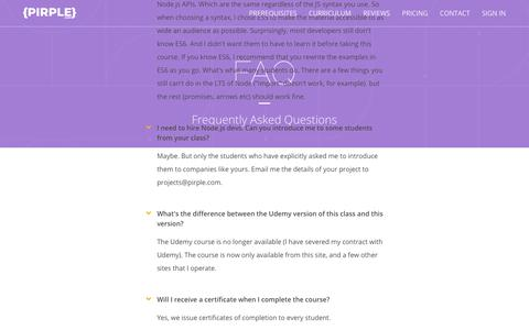 Screenshot of FAQ Page thinkific.com - Frequently Asked Questions - captured July 7, 2018