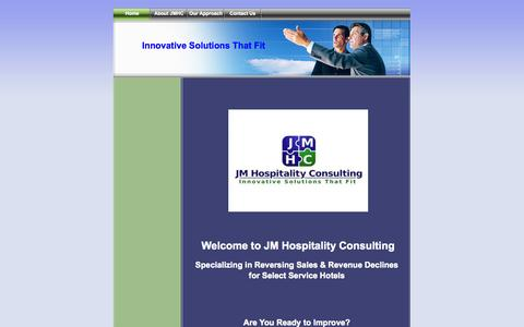 Screenshot of Home Page jmhospitalityconsulting.com - Home - JM Hospitality Consulting - captured Sept. 30, 2014