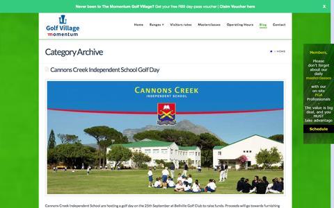 Screenshot of Blog thegolfvillage.co.za - The Golf Village Blog - captured Oct. 1, 2014