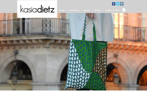Screenshot of Home Page kasiadietz.com - Kasia Dietz handbags - captured Oct. 17, 2017
