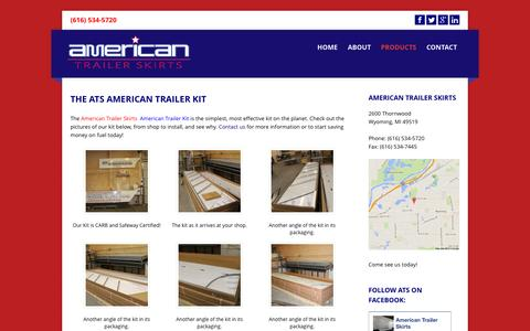 Screenshot of Products Page americantrailerskirts.net - American Trailer Skirts » The ATS American Trailer Kit - captured Sept. 30, 2014