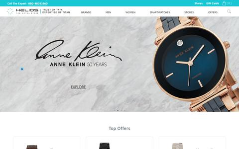 Screenshot of Home Page helioswatchstore.com - Helios Watch Store - Shop for India's best luxury watch collection, online - captured Sept. 30, 2018