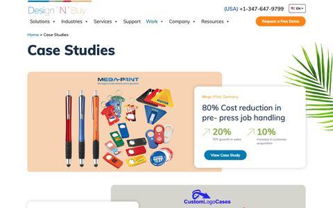 Screenshot of Case Studies Page designnbuy.com - Case Studies | Design 'N' Buy - captured June 22, 2019