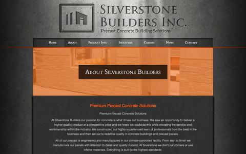Screenshot of About Page silverstonebuildersinc.ca - About Us | Silverstone Builders - captured July 8, 2018