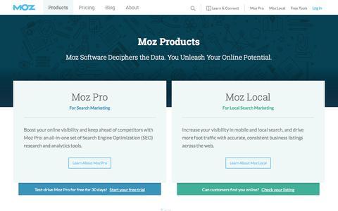Screenshot of Trial Page moz.com - Software for Managing Inbound Marketing and Local SEO - Moz - captured Sept. 30, 2015