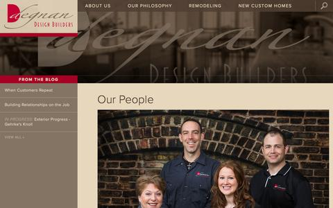 Screenshot of Team Page degnandesignbuilders.com - Our People - Degnan Design Builders - captured Feb. 8, 2016