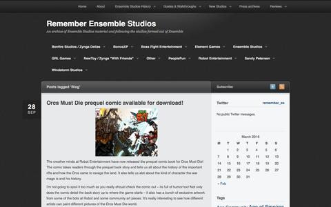 Screenshot of Blog remember-ensemblestudios.com - Blog | Remember Ensemble Studios - captured March 12, 2016