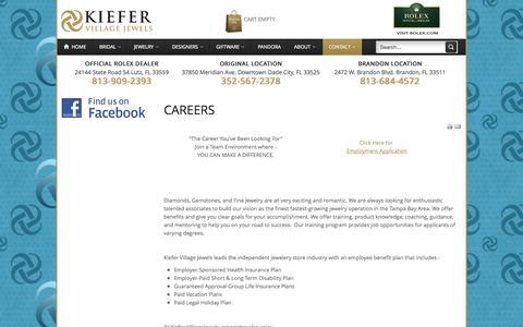 Screenshot of Jobs Page kvjewels.com - Careers - captured Oct. 6, 2014