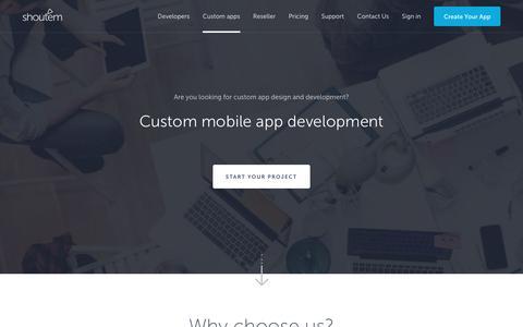 Custom mobile app development – Shoutem