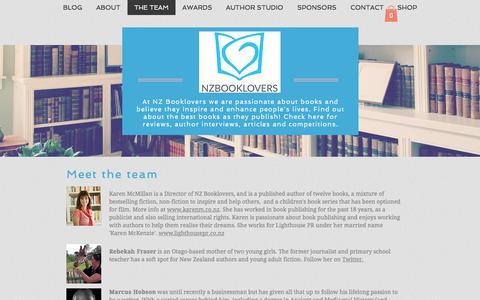Screenshot of Team Page nzbooklovers.co.nz - The Team | NZ Booklovers - captured Sept. 21, 2018