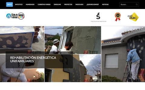 Screenshot of Home Page sate-vipal.com - Aislamiento térmico SATE. Rehabilitación de edificios y fachadas - captured May 25, 2017